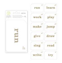 Seven Paper Foil Transparent Cards 4X6 12/Pkg - Darcy Gold Words UTGÅENDE