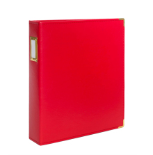 Seven Paper Faux Leather Album 9X12 - Red