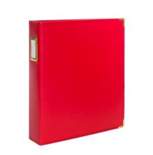 Seven Paper Faux Leather Album 9X12 - Red