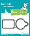 Lawn Fawn Custom Craft Die - Turn Me On