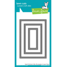 Lawn Fawn Custom Craft Die - Small Stitched 4 Bar Rectangles