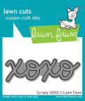Lawn Fawn Custom Craft Die - Scripty XOXO
