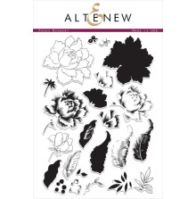 Altenew Layering Clear Stamps 6X8 24/Pkg - Peony Bouquet