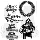 Tim Holtz Unmounted Rubber Stamp Set - Old Fashioned Christmas