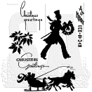 Tim Holtz Unmounted Rubber Stamp Set - Deco Christmas