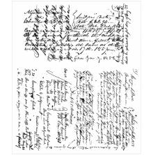 Tim Holtz Cling Stamps 7X8.5 - Ledger Script