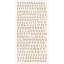 Kaisercraft Alphabet Stickers 6X12 Sheet - Natural