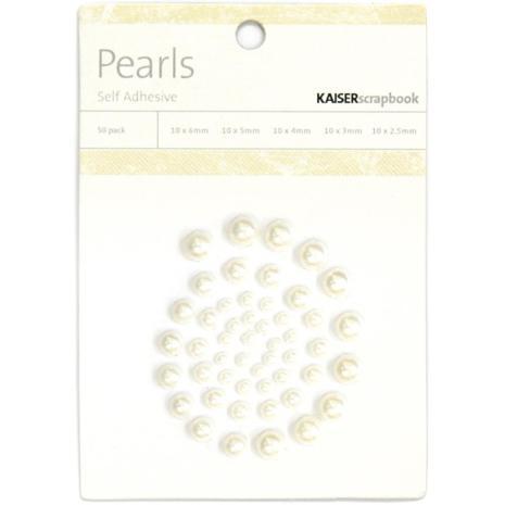Kaisercraft Self-Adhesive Pearls 50/Pkg - Pearl