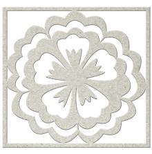 FabScraps KaleidoScope Die-Cut Chipboard Shape - Flower