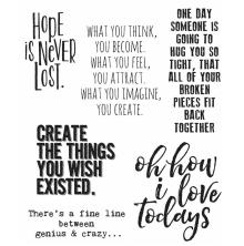 Tim Holtz Cling Stamps 7X8.5 - Ponderings