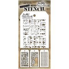 Tim Holtz Mini Layered Stencil Set 3/Pkg - Set 1