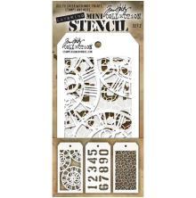 Tim Holtz Mini Layered Stencil Set 3/Pkg - Set 2