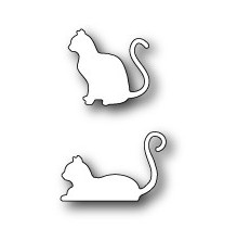 Poppystamps Die - Poised Cats