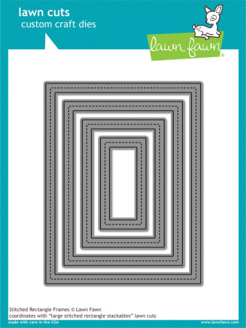 Lawn Fawn Custom Craft Die - Stitched Rectangle Frames