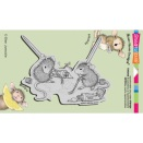 Stampendous House Mouse Cling Stamp 4X6 - Painting Pals
