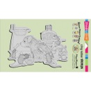 Stampendous House Mouse Cling Stamp 4X6 - Dog Wash