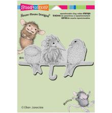 Stampendous House Mouse Cling Stamp 4.5X5.5 - Tweet Disguise