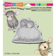 Stampendous House Mouse Cling Stamp 3.5X4 - Easter Egg Nap
