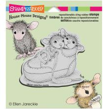 Stampendous House Mouse Cling Stamp 3.5X4 - Shoe Babies