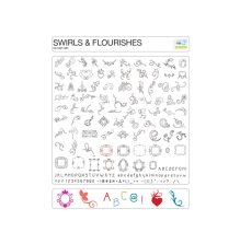 eCraft Swirls & Flourishes SD Image Card by Craftwell UTGÅENDE