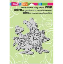 Stampendous Cling Stamp 6.5X4.5 - Hare In A Hurry