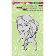 Stampendous Cling Stamp 7.75X4.5 - Beautiful Braid