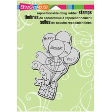Stampendous Cling Stamp 6.5X4.5 - Gift Drift
