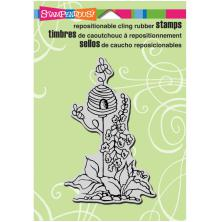 Stampendous Cling Stamp 6.5X4.5 - Garden Hive