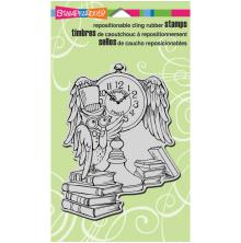 Stampendous Cling Stamp 7.75X4.5 - Owl Clock