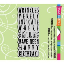 Stampendous Cling Stamp 3.5X4 - Birthday Wrinkles