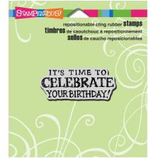 Stampendous Perfectly Clear Stamps 3.5X4 - Celebrate Birthday