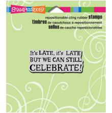 Stampendous Perfectly Clear Stamps 3.5X4 - Celebrate Late