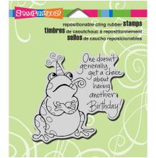 Stampendous Cling Stamp 3.5X4 - Birthday Toad