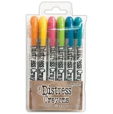Tim Holtz Distress Crayon Set - Set #1