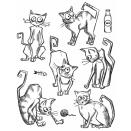Tim Holtz Cling Rubber Stamp Set 7X8.5 - Crazy Cats