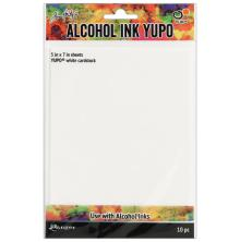 Tim Holtz Alcohol Ink Yupo Paper 10 Sheets - White CS 5X7