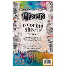 Dylusions Coloring Sheets 5X8