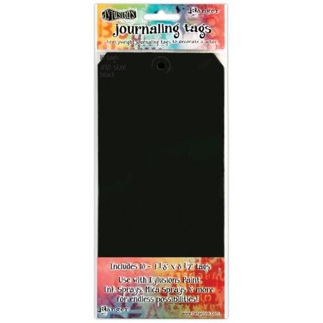 Dylusions Journal Tags 10/Pkg - Black #10