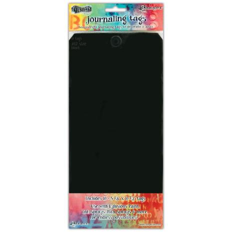 Dylusions Journal Tags 10/Pkg - Black #12