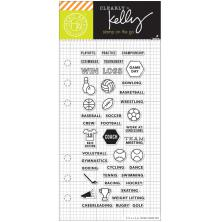 Hero Arts Kelly Purkey Clear Stamps 2.5X6 - Sports Planner