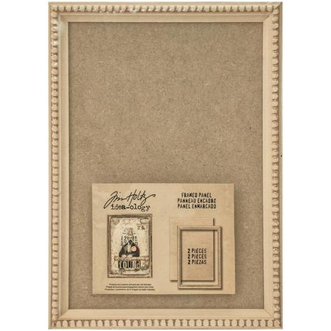 Tim Holtz Idea-Ology Framed Panel 9X6.5 - Tan