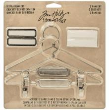 Tim Holtz Idea-Ology Display Hangers 5.75X3 2/Pkg - Nickel