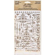 Tim Holtz Idea-Ology Remnant Rubs Rub-Ons - Gilded Accents