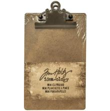 Tim Holtz Idea-Ology Mini Clipboard 4.5X7.75 - Brown
