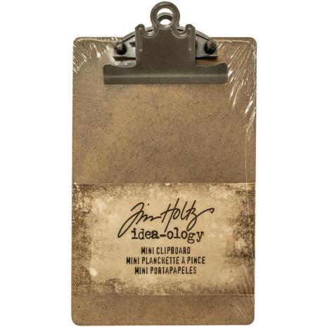 Tim Holtz Idea-Ology Mini Clipboard 4.5X7.75 - Brown