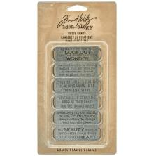 Tim Holtz Idea-Ology Metal Quote Bands .75X2.25 - Antique Nickel