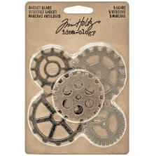 Tim Holtz Idea-Ology Metal Gadget Gears - Antique Nickel, Brass & Coppe