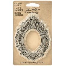 Tim Holtz Idea-Ology Baroque Frames - Antique Nickel