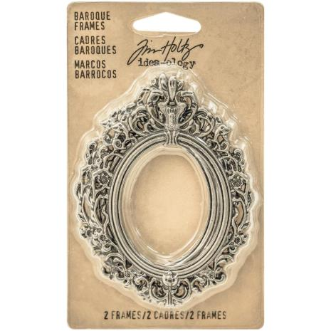 Tim Holtz Idea-Ology Baroque Frames - Antique Nickel