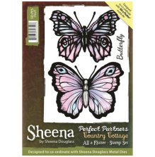 Sheena Douglass Perfect Partners Country Cottage Stamp - All a Flutter UTGÅENDE
